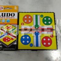 Ludo Magnet Mini Board Game Pocket Mainan Anak Portable praktis dibawa