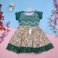 Dress Brukat Davina uk 3-4 Tahun / Dres Anak Perempuan Gaun Pesta