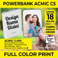 Mini PowerBank ACMIC CUSTOM PRINT 5.000mAh DESIGN BEBAS Power Bank