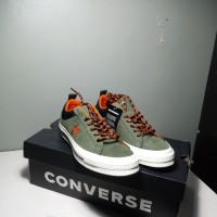 sepatu CONVERSE One Star OX Utility Green/Campfire Orange sku 162544c