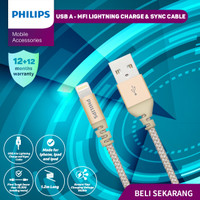 Kabel USB A to Lightning (APPLE) Philips DLC-4542 (Lightning Cable)