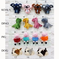 Boneka Keychain Koala Pig dino Dog Impor gantungan kunci souvenir
