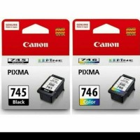tinta catridge canon 745black -746 calour/set - Hitam