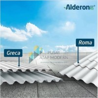 Alderon RS Atap uPVC Single Layer 1.8m - Tipe Greca (Gelombang Kotak)