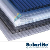 Solarlite 5mm Atap Polycarbonate - Dark Grey