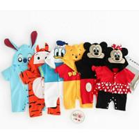 baju kostum romper kartun disney minnie pooh tiger anak bayi impor