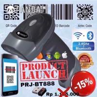 PRJ-BT888 Wireless Barcode Scanner QR Code-E-Faktur(Bluetooth+2.4G) 2D