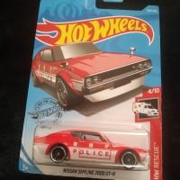 Hotwheels Hot Wheels - Nisaan Skyline 2000 GT-R - Kenmeri police merah