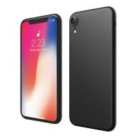 ASENARU iPhone XR Case - Super Slim Signature Casing - Pitch Black