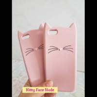 CASE KITTY FACE NUDE - IPHONE 5 5S 6 6S X OPPO F5 F1S NEO9 A37 F7 A83