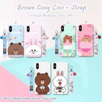 Brown cony line strap xiaomi oppo vivo iphone samsung LG andromax meiz