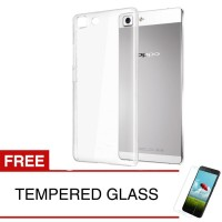 Crystal Case for OPPO R5 R8106 - Clear Hardcase Gratis Tempered Glass