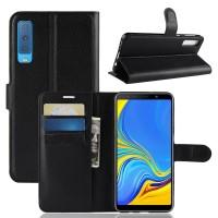 Weika Dompet Kulit PU Flip Case For Samsung A7 2018