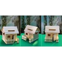 Miniatur rumah / kreasi stik es krim / rumah stik es krim