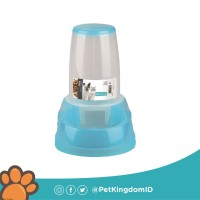 DOG FOOD DISPENSER 1500ML BLUE