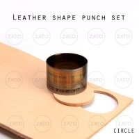 Circle SET Leather shape punch - pisau pon - leather tools