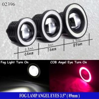 Fog Lamp Angel Eyes 3,5inch ( 89mm ) Ring Merah - Lampu Fog Lamp - LED