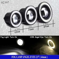 Fog Lamp Angel Eyes 2,5inch ( 64mm ) Ring Kuning - Lampu Fog Lamp - LE