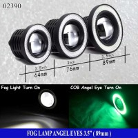 Fog Lamp Angel Eyes 3,5inch ( 89mm ) Ring Hijau - Lampu Fog Lamp - LED