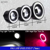 Fog Lamp Angel Eyes 3inch ( 76mm ) Ring Merah - Lampu Fog Lamp - LED