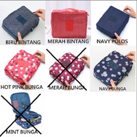 tas kosmetik bag multi pouch dompet make up travel organizer bermotif