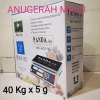 Timbangan Digital Meja Laundry Barang Buah Sembako PANDA 40 kgx5g
