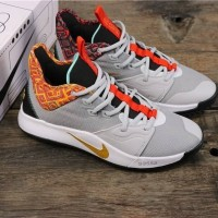 Sepatu Basket Nike Paul George 3 BHM Pure Platinum