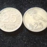 UANG KUNO UANG MAHAR KOIN 25 RUPIAH BURUNG MERPATI 1971