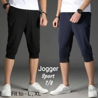 Celana Pendek Jogger Premium Pants Sport Training Jogger 7/8 Dewasa