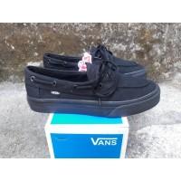 Sepatu Vans Zapato Flanel Full Black Premium BNIB Sneakers Pria