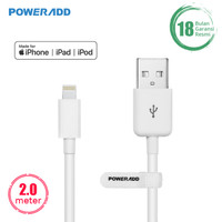 POWERADD USB Cable Apple Devices Lightning Mfi Certified 6.6ft / 2m