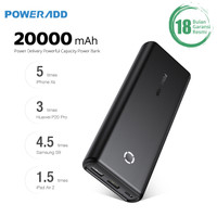 POWERADD 20000mAh PD Portable Charger Power Bank QC3.0 Fast Charge 18W