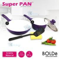 SH1594 BOLDE Panci Set Super Pan Purple set Granite Marble UNGU