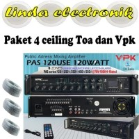 paket 4bh toa zr646r ceiling dan amplifier systems vpk pas120use 6zone