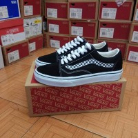 "Vans Old Skool Side Stripe V ""Black White"" Premium Quality"