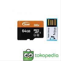 BJO - Team MicroSD 64GB UHS-1 PLUS Card Reader Speed 500x - 80Mbps