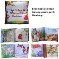 Mainan Anak Edukasi   Softbook   Buku Bantal Mengenal Gerak Binatang