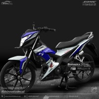 DECAL STICKER HONDA SONIC DESAIN F1 TEAM BLUE-004