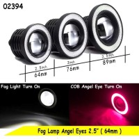 Fog Light Lamp Angel Eyes 2,5inch ( 64mm ) Ring Merah - Lampu Fog Lamp