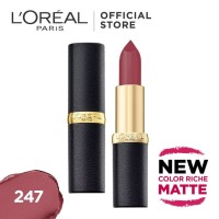 l'oreal lipstik matte color riche matte 247 hinted blush