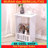 Coffee Table Meja Ngopi vintage MEGAHOME Rak Sudut Kayu Minimalis Kere