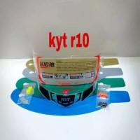 Paket kaca helm flat visor tear off post spoiler pnp kyt r10 helm