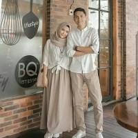 Baju Gamis Couple Pria Dan Wanita Natura Couple Putih