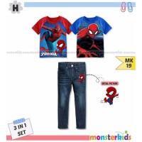 Baju Anak Import Branded Setelan Anak Remaja Laki Laki Spiderman Merah
