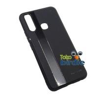 Case Vivo Y17 Y 17 Enigma soft matte strip fiber carbon anti slip oil