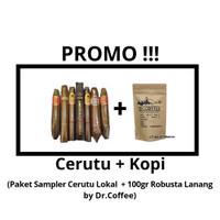 (PROMO) Paket Cerutu / Cigars + Kopi Robusta Lanang 03