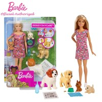 Boneka Barbie Mattel Doggy day care - hewan peliharaan