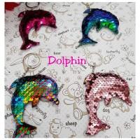 key Chain Flip Sequin Unicorn / Gantungan Kunci Unicorn