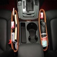 Holder Selip Kulit Tempat Hp Kartu Samping Jok Mobil Car Organizer