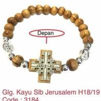 Gelang Kayu Salib Jerusalem - Aksesoris Rohani